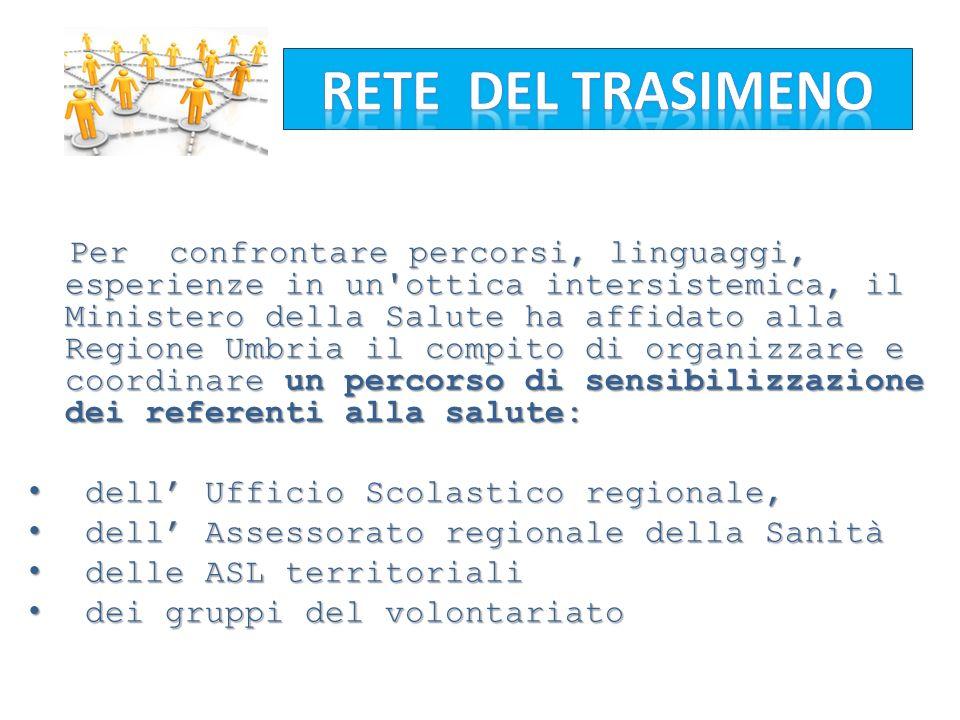 Per confrontare percorsi, linguaggi, esperienze in un'ottica intersistemica, il Ministero della Salute ha affidato alla Regione Umbria il compito di o