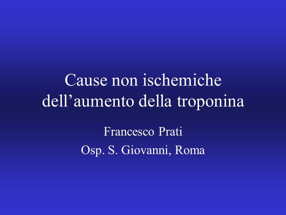 Cause non ischemiche dellaumento della troponina Francesco Prati Osp. S. Giovanni, Roma