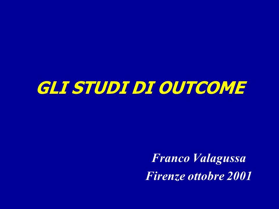 GLI STUDI DI OUTCOME Franco Valagussa Firenze ottobre 2001