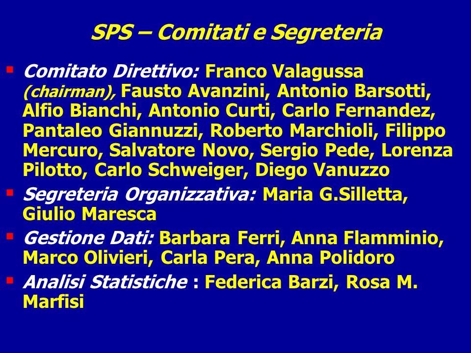 SPS – Comitati e Segreteria Comitato Direttivo: Franco Valagussa (chairman), Fausto Avanzini, Antonio Barsotti, Alfio Bianchi, Antonio Curti, Carlo Fe