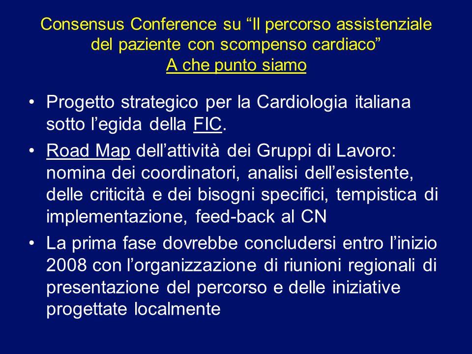 Consensus Conference su Il percorso assistenziale del paziente con scompenso cardiaco A che punto siamo Progetto strategico per la Cardiologia italian