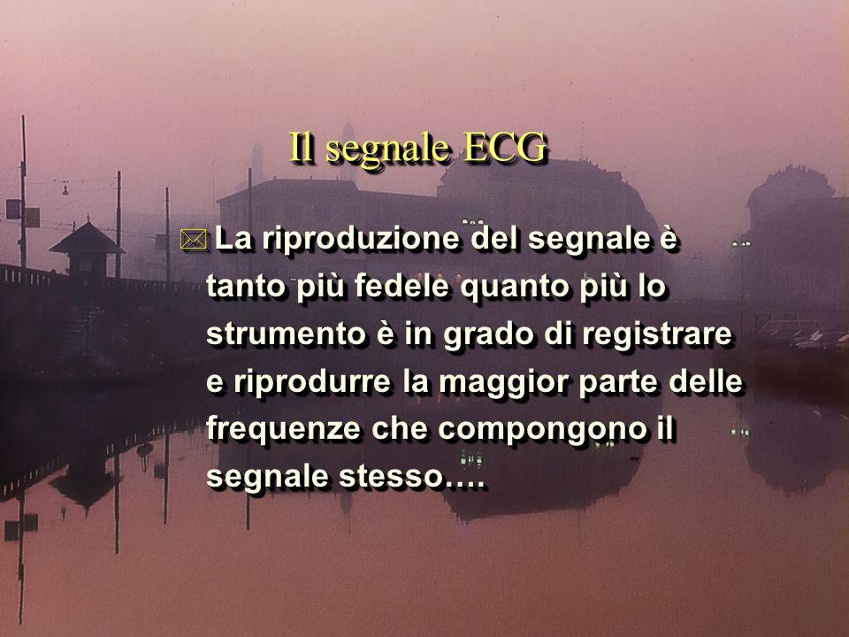 Il segnale ECG * La riproduzione del segnale è tanto più fedele quanto più lo tanto più fedele quanto più lo strumento è in grado di registrare strume