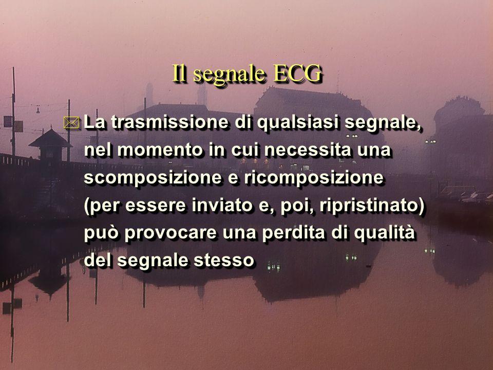 Il segnale ECG * La trasmissione di qualsiasi segnale, nel momento in cui necessita una nel momento in cui necessita una scomposizione e ricomposizion