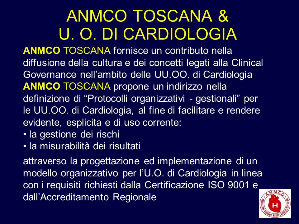ANMCO TOSCANA & U. O.
