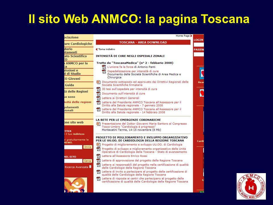 Il sito Web ANMCO: la pagina Toscana