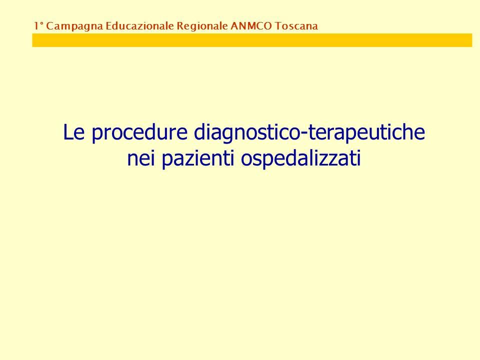 1° Campagna Educazionale Regionale ANMCO Toscana Le procedure diagnostico-terapeutiche nei pazienti ospedalizzati