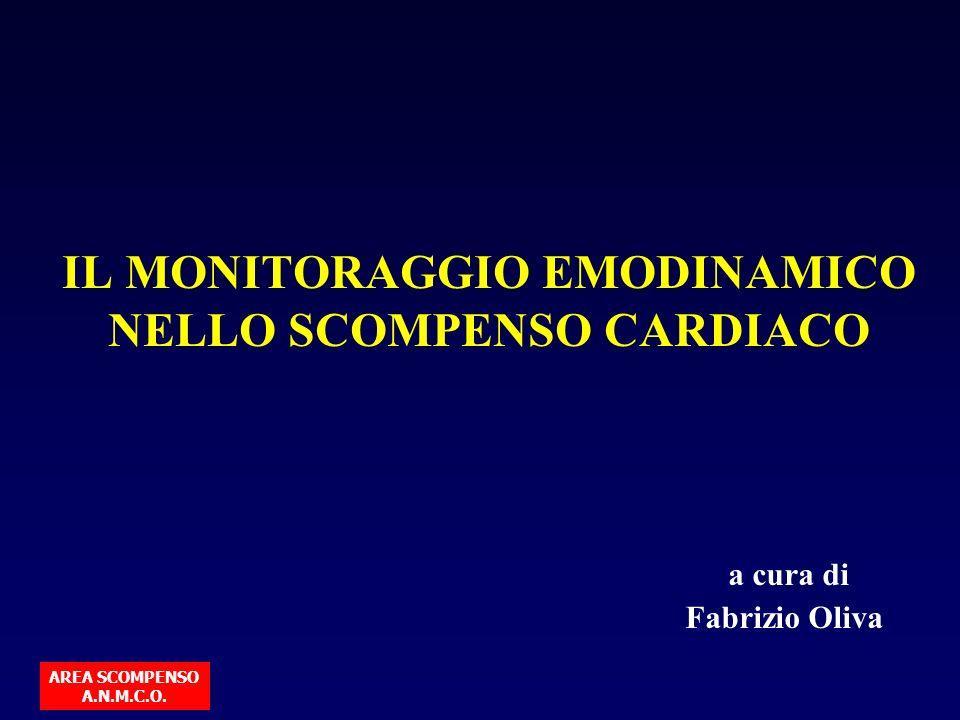 IL MONITORAGGIO EMODINAMICO NELLO SCOMPENSO CARDIACO a cura di Fabrizio Oliva AREA SCOMPENSO A.N.M.C.O.
