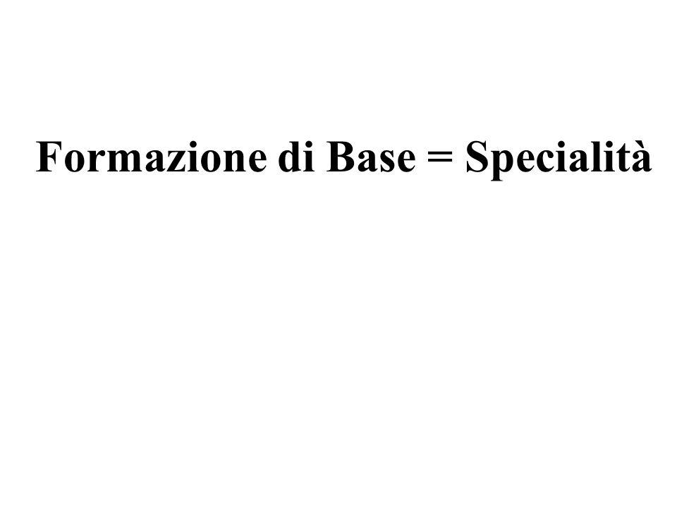 Formazione di Base = Specialità