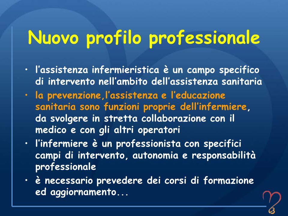 Nuovo profilo professionale lassistenza infermieristica è un campo specifico di intervento nellambito dellassistenza sanitaria la prevenzione,lassiste