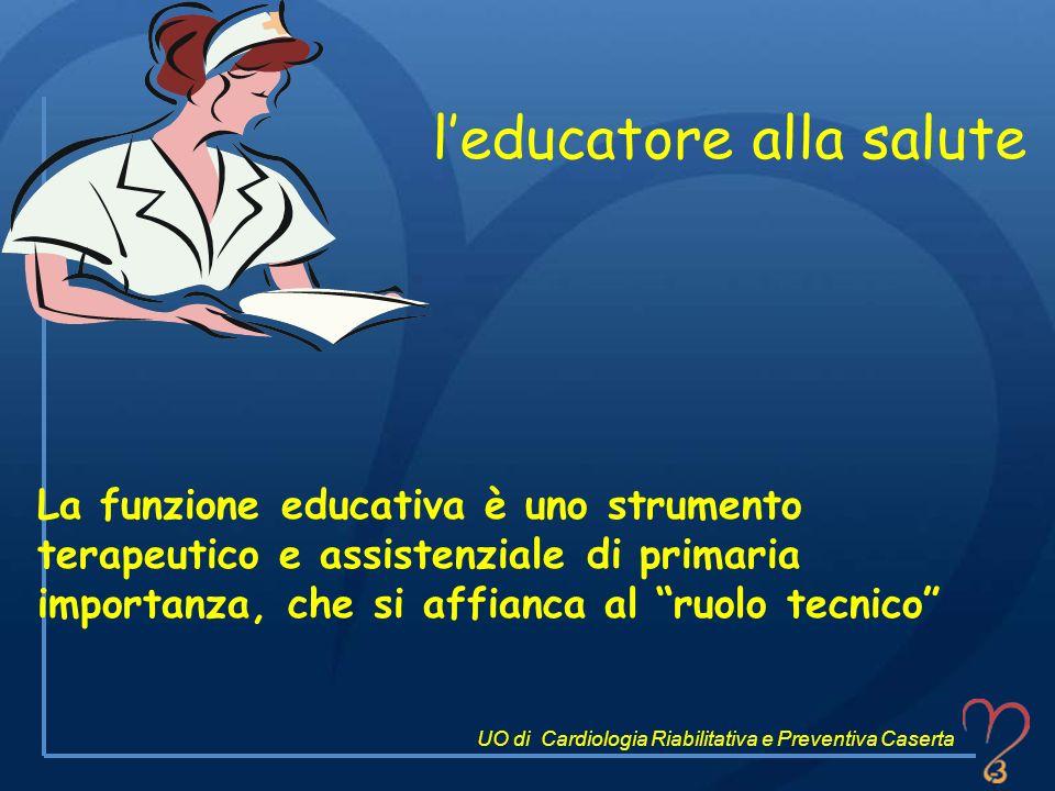 La funzione educativa è uno strumento terapeutico e assistenziale di primaria importanza, che si affianca al ruolo tecnico leducatore alla salute UO d