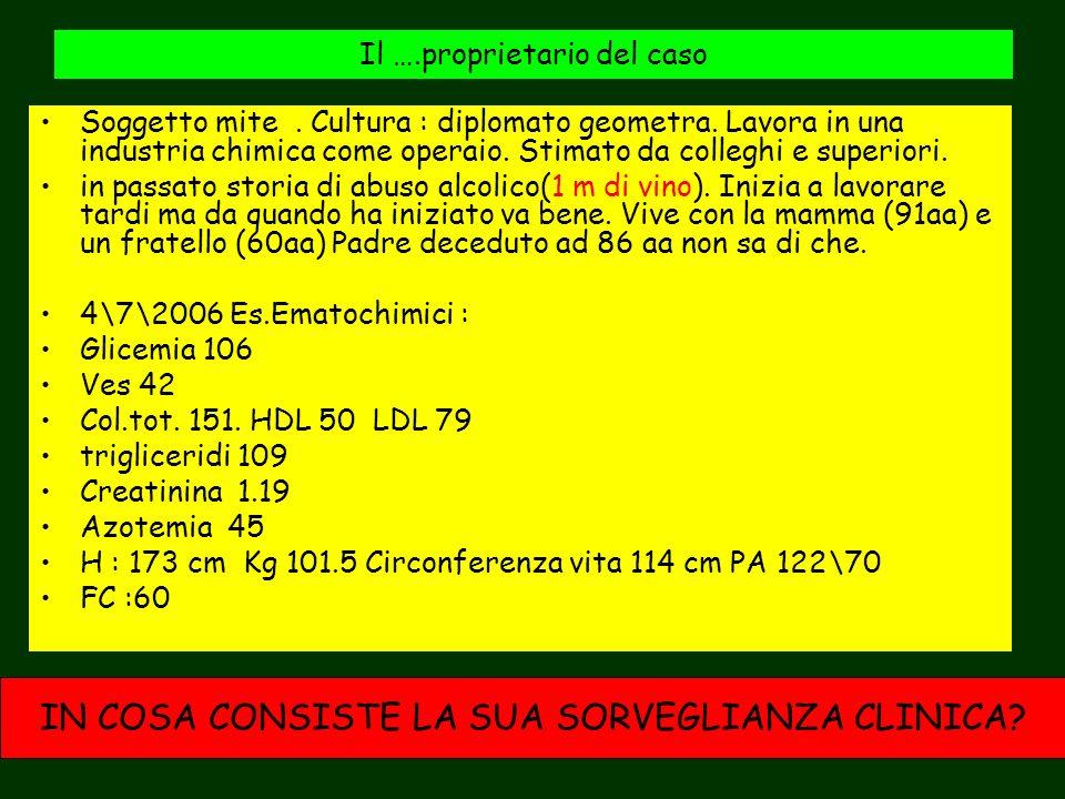 LA SORVEGLIANZA CLINICA (GESTIONE DEL POST INFARTO) POST-INFARTO : OBIETTIVO: PRESERVAZIONE, SE NON IL RECUPERO, DELLA FUNZIONE CARDIACA E LA MESSA IN OPERA DI TUTTE QUELLE MISURE POTENZIALMENTE UTILI A RIDURRE LE PROBABILITA DI COMPLICANZE E A SCONGIURARE IL RIPETERSI DI UN EVENTO INFARTUALE POST INFARTUATO : OBIETTIVO: RENDERE EDOTTO IL PAZIENTE DELLA NATURA DELLA CARDIOPATIA E DEI FATTORI DI RISCHIO DI UN NUOVO IMA … MA LA CORRETTA INFORMAZIONE E GESTIONE DEI PARAMETRI CLINICI E FARMACOLOGICI NON BASTA: QUELLO CHE SERVE A CURARE I MALATI PASSA ATTRAVERSO LA MISTERIOSA CONNESSIONE TRA MENTE E CORPO (A.LAbbate)