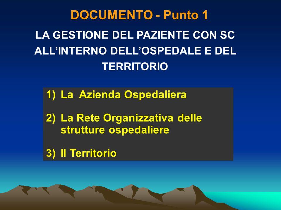 DOCUMENTO - Punto 2 COME IMPLEMENTARE UN PROGRAMMA DI GESTIONE INTEGRATA OSPEDALE - TERRITORIO 1)La Struttura della Rete Gestionale 2)Gli Strumenti 3)LOrganizzazione Il percorso di cura (PDT)