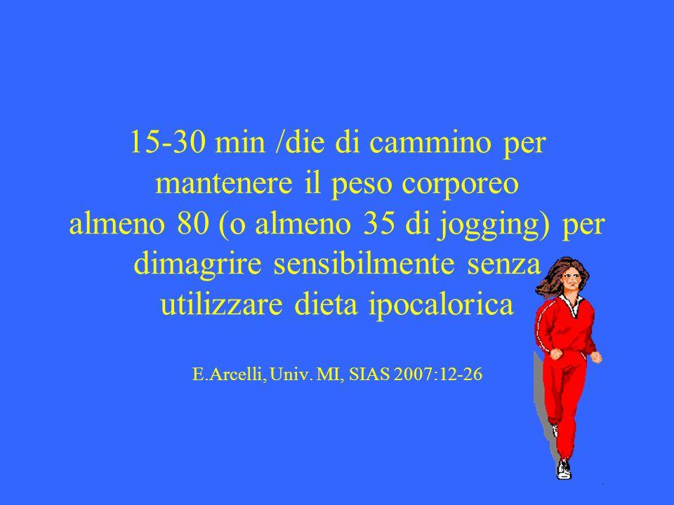 Camminare può essere considerata lattività fisica principale per la maggior parte delle persone