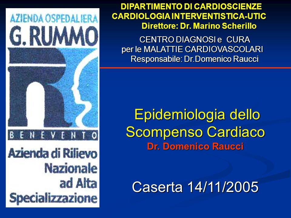 Scompenso Cardiaco Uno dei problemi di salute pubblica di maggior rilievo epidemiologico negli ultimi anni.