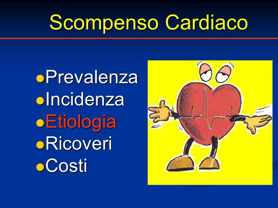 Scompenso Cardiaco Scompenso Cardiaco Prevalenza Prevalenza Incidenza Incidenza Etiologia Etiologia Ricoveri Ricoveri Costi Costi