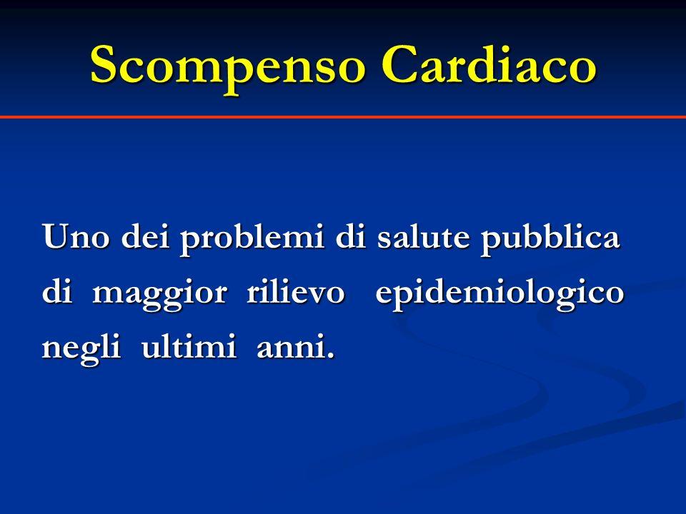 Scompenso Cardiaco Scompenso Cardiaco Prevalenza Prevalenza Incidenza Incidenza Eziologia Eziologia Ricoveri Ricoveri Costi Costi