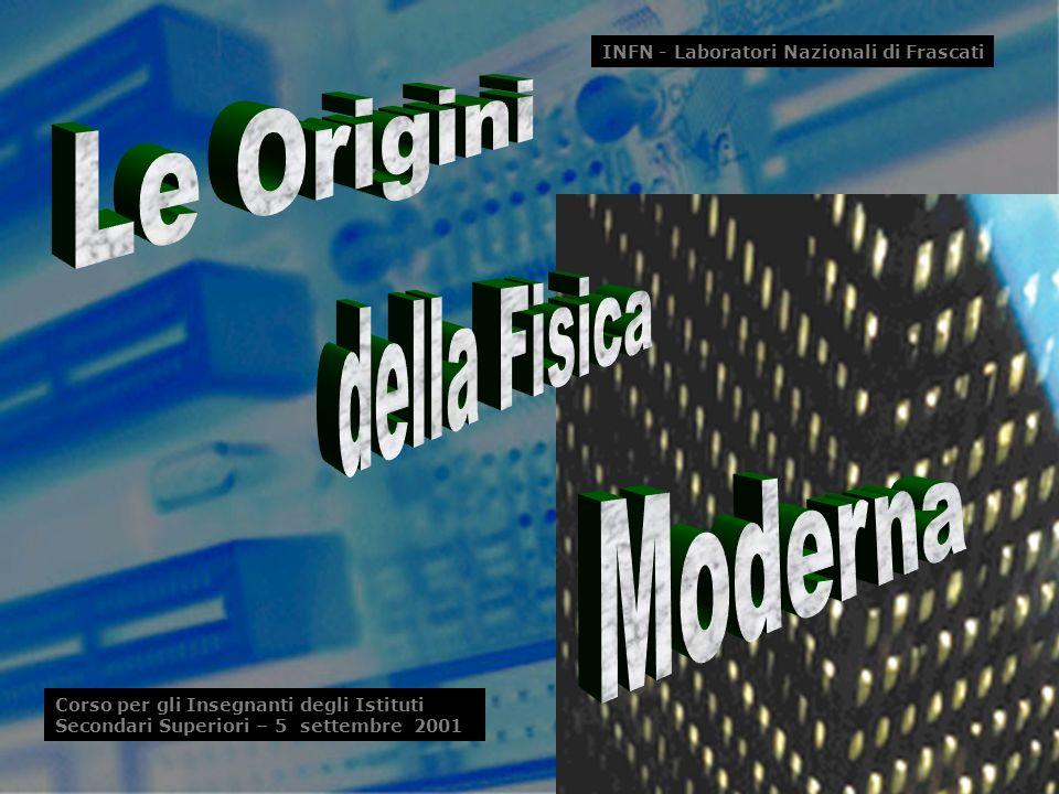 S. Bellucci (INFN)1 INFN - Laboratori Nazionali di Frascati Corso per gli Insegnanti degli Istituti Secondari Superiori – 5 settembre 2001