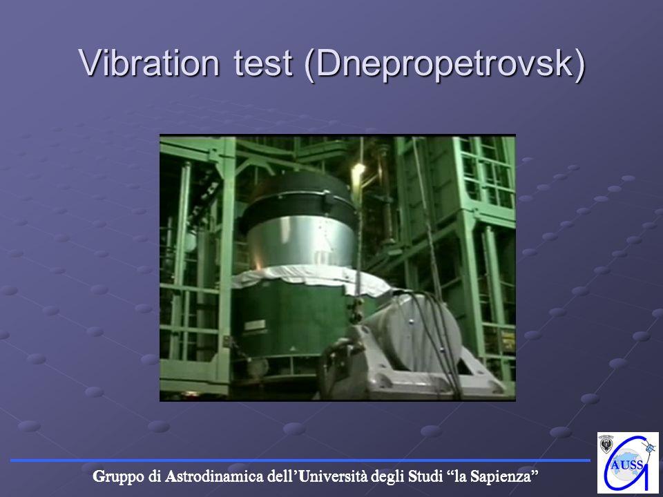 Gruppo di Astrodinamica dellUniversità degli Studi la Sapienza Vibration test (Dnepropetrovsk)