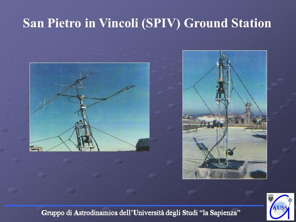Gruppo di Astrodinamica dellUniversità degli Studi la Sapienza San Pietro in Vincoli (SPIV) Ground Station