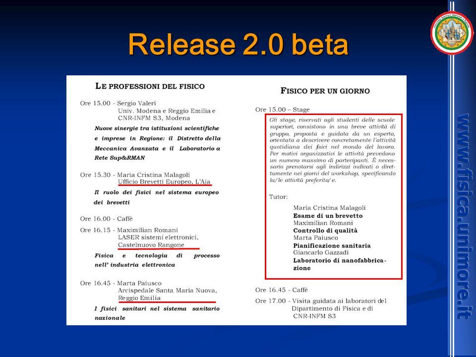 Release 2.0 beta