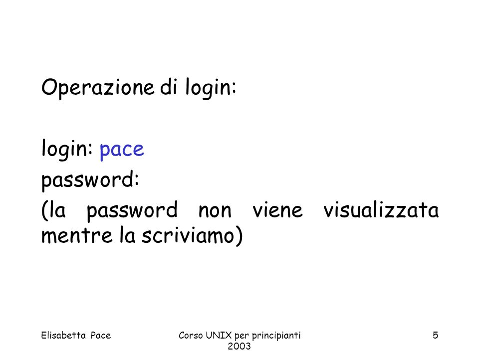 Elisabetta PaceCorso UNIX per principianti 2003 6 AIX Version 4 (C) Copyrights by IBM and by others 1982, 1996.