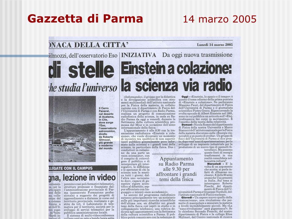 Gazzetta di Parma 14 marzo 2005