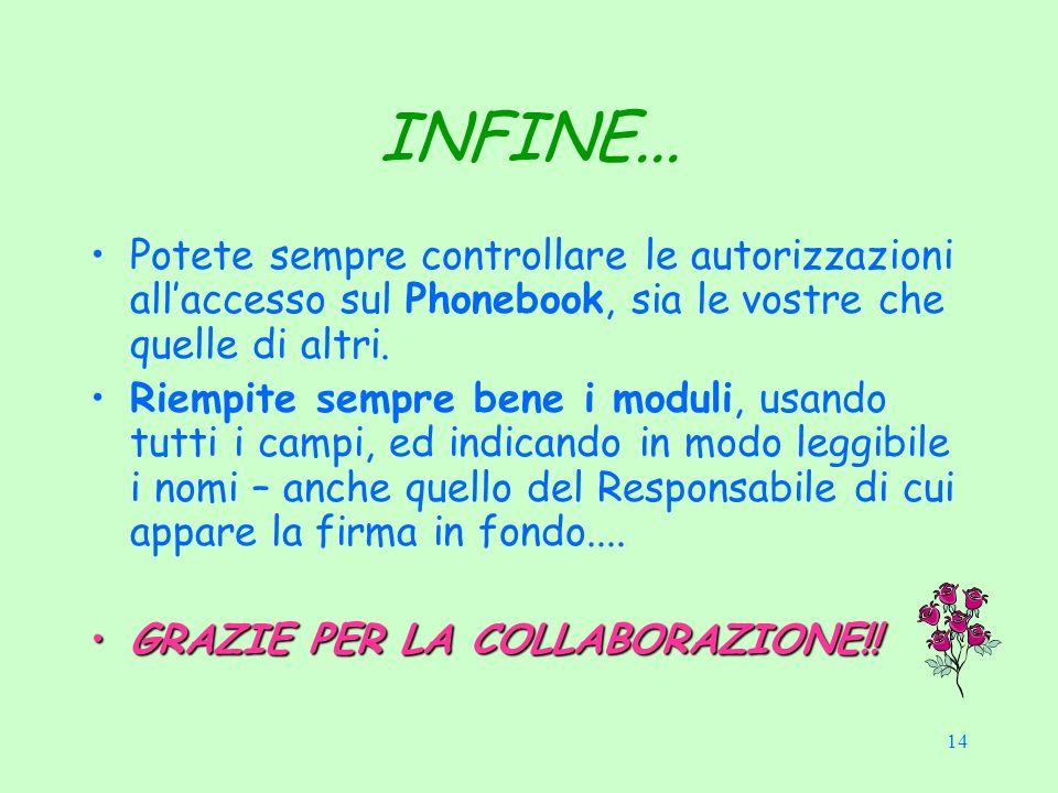 14 INFINE...