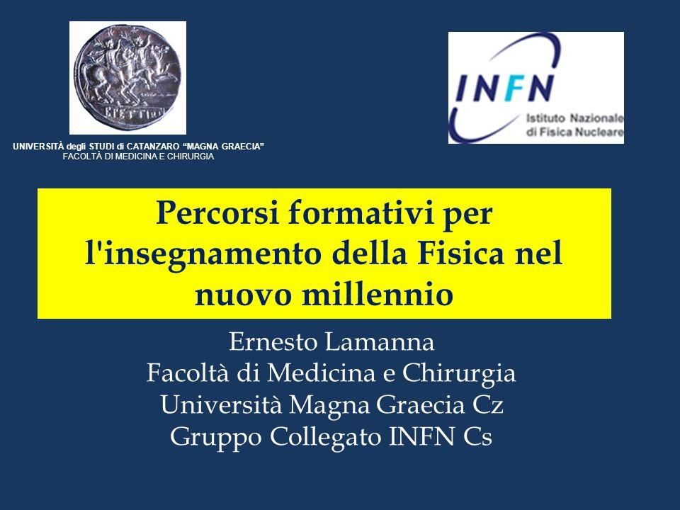 Approcci innovativi possono essere trovati su rete Moltissimi su siti degli USA (MERLOT ….) [Merlot1; Merlot2; Hyperphysics](MERLOT ….)Merlot1Merlot2Hyperphysics Tanti anche in ITALIA (Uni Modena e Reggio Emilia …) [Mo-RE](Uni Modena e Reggio Emilia …) Mo-RE Si segue un percorso tradizionale.