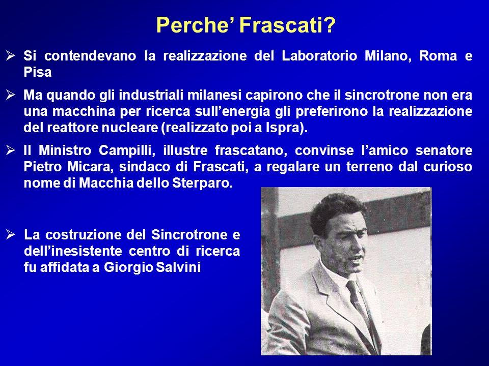Si contendevano la realizzazione del Laboratorio Milano, Roma e Pisa Ma quando gli industriali milanesi capirono che il sincrotrone non era una macchi