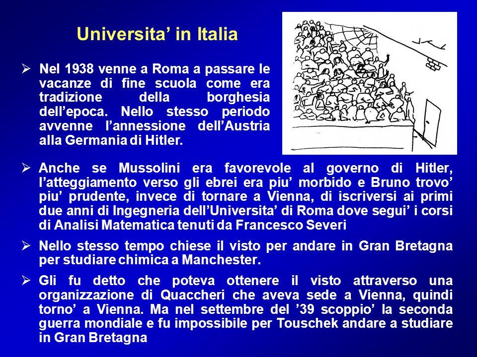 Anche se Mussolini era favorevole al governo di Hitler, latteggiamento verso gli ebrei era piu morbido e Bruno trovo piu prudente, invece di tornare a