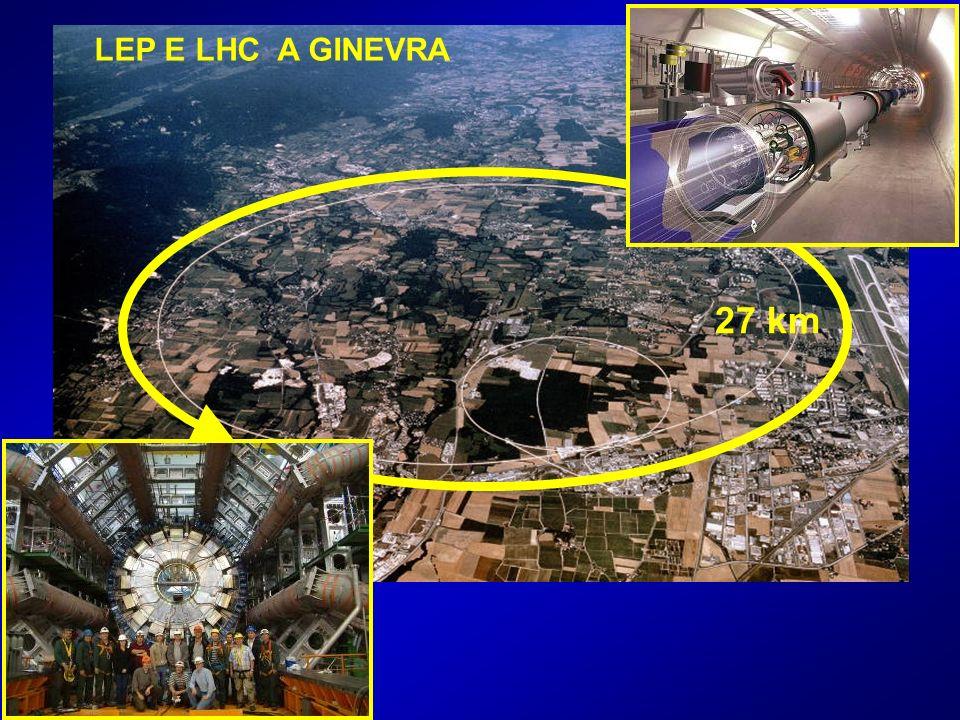 27 km LEP E LHC A GINEVRA