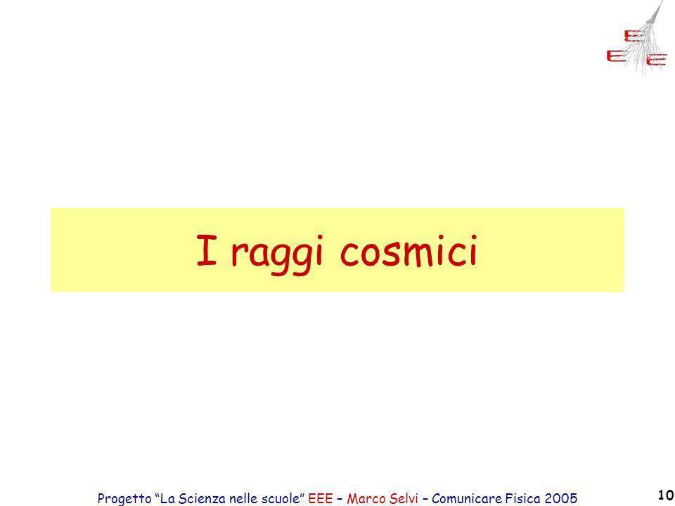 Progetto La Scienza nelle scuole EEE – Marco Selvi – Comunicare Fisica 2005 10 I raggi cosmici