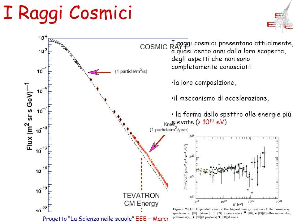 Progetto La Scienza nelle scuole EEE – Marco Selvi – Comunicare Fisica 2005 13 I Raggi Cosmici I raggi cosmici presentano attualmente, a quasi cento a