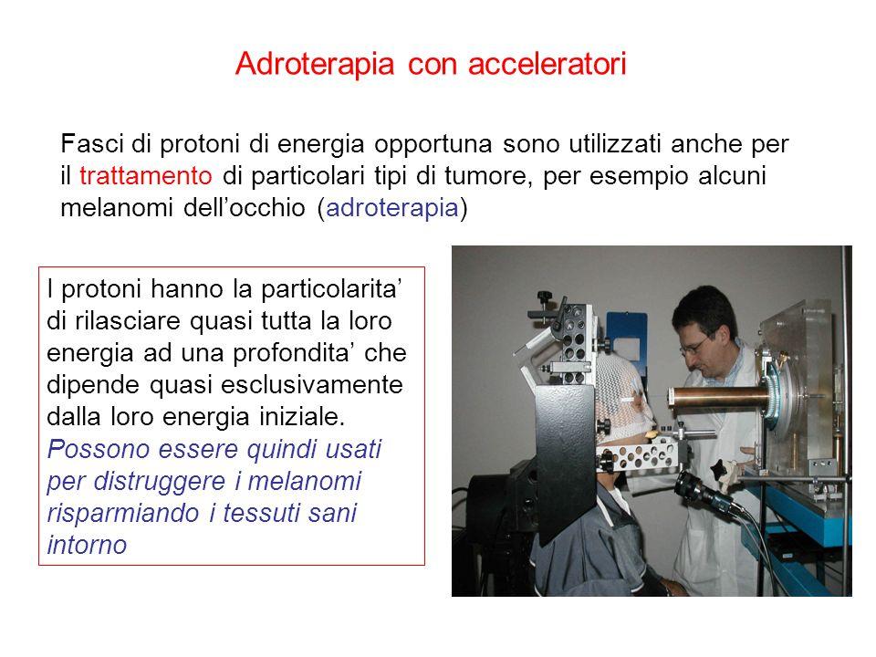 Fasci di protoni di energia opportuna sono utilizzati anche per il trattamento di particolari tipi di tumore, per esempio alcuni melanomi dellocchio (