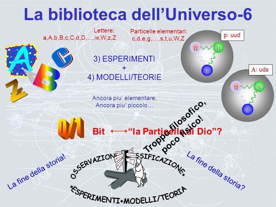La biblioteca dellUniverso-5 Elementari? np - 0 K0K0 K+K+ K-K- K0K0 S = +1 S = 0S = 0 S = -1 S = 0S = 0 S = -2 S = -3 Q = +1 Q = -1 Q = 0Q = 0 Q = 0Q