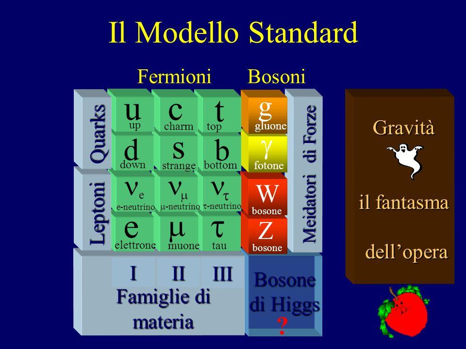 La biblioteca dellUniverso-6 3) ESPERIMENTI + 4) MODELLI/TEORIE Particelle elementari: c,d,e,g,…,s,t,u,W,Z Ancora piu elementare, Ancora piu piccolo…