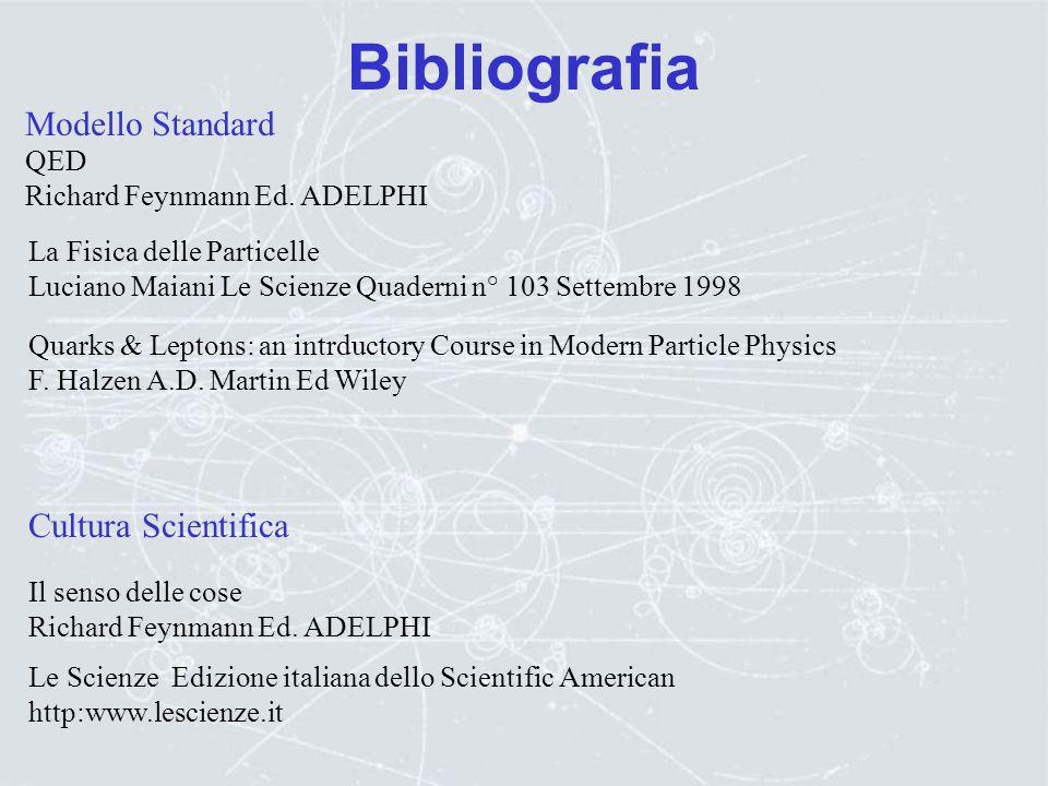 Bibliografia Acceleratori: R.Feynman, R.Leighton, M.Sands: La Fisica di Feynman (Vol. 2), Addison Wesley R.Wilson, R.Littauer:Acceleratori di particel
