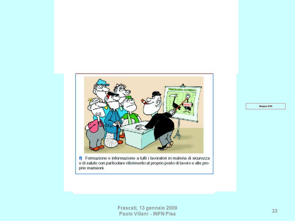 Frascati, 13 gennaio 2009 Paolo Villani - INFN Pisa 33 Gruppo OTIS