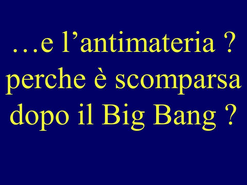 …e lantimateria ? perche è scomparsa dopo il Big Bang ?