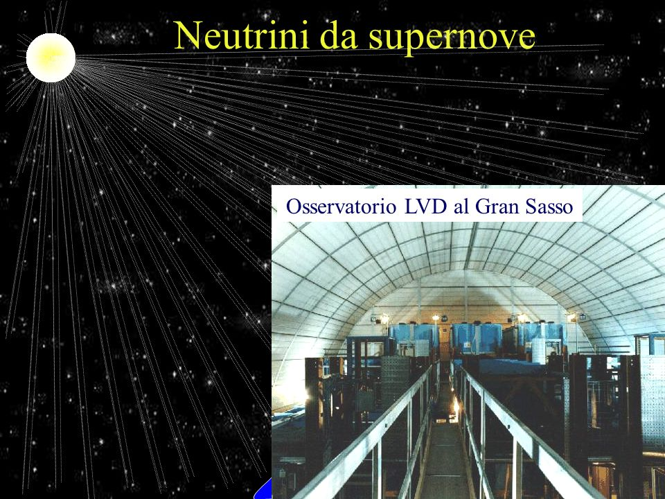 F. Murtas Laboratori Nazionali di Frascati dellINFN Neutrini da supernove Osservatorio LVD al Gran Sasso