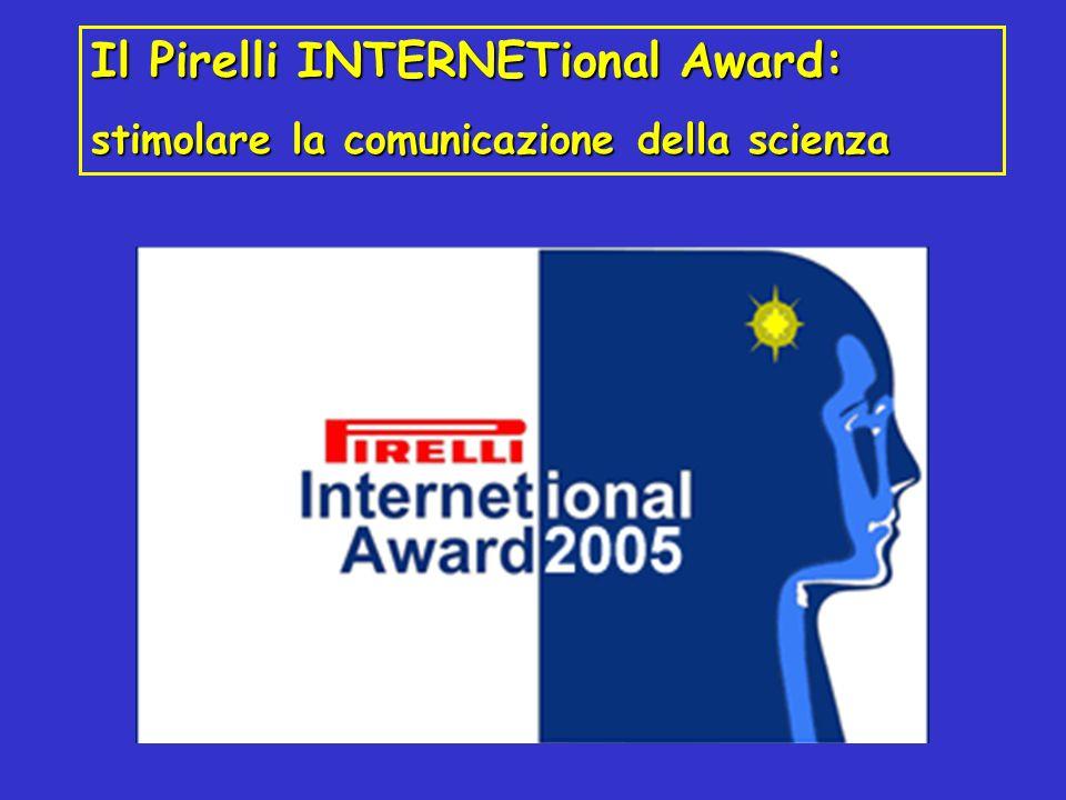 Il Pirelli INTERNETional Award: stimolare la comunicazione della scienza