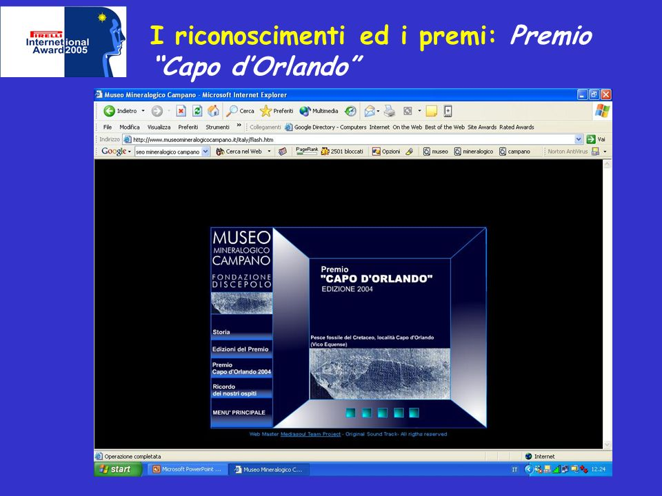 I riconoscimenti ed i premi: Premio Capo dOrlando