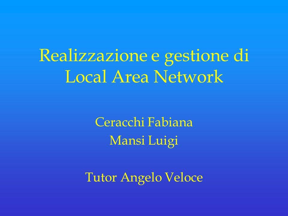 Realizzazione e gestione di Local Area Network Ceracchi Fabiana Mansi Luigi Tutor Angelo Veloce