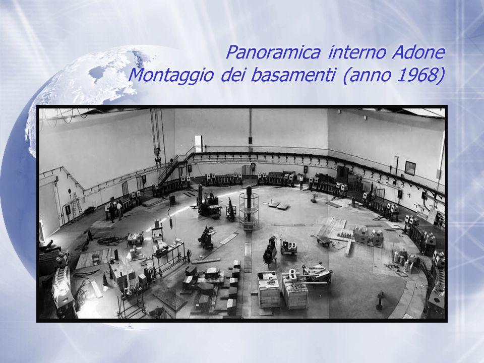 Panoramica interno Adone Montaggio dei basamenti (anno 1968)