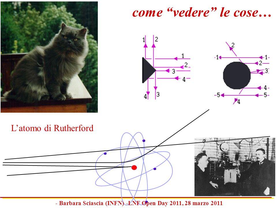 come vedere le cose… Latomo di Rutherford - Barbara Sciascia (INFN) -LNF Open Day 2011, 28 marzo 2011