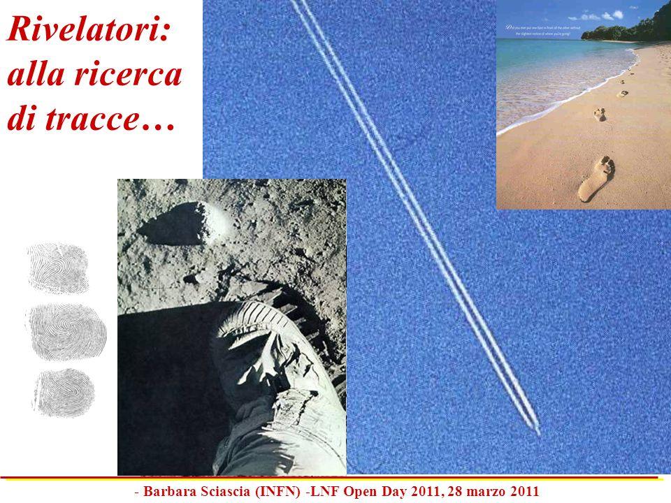 Rivelatori: alla ricerca di tracce… - Barbara Sciascia (INFN) -LNF Open Day 2011, 28 marzo 2011
