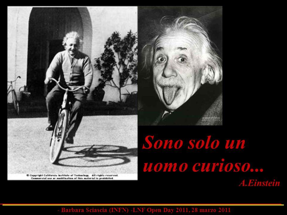 Sono solo un uomo curioso... A.Einstein - Barbara Sciascia (INFN) -LNF Open Day 2011, 28 marzo 2011