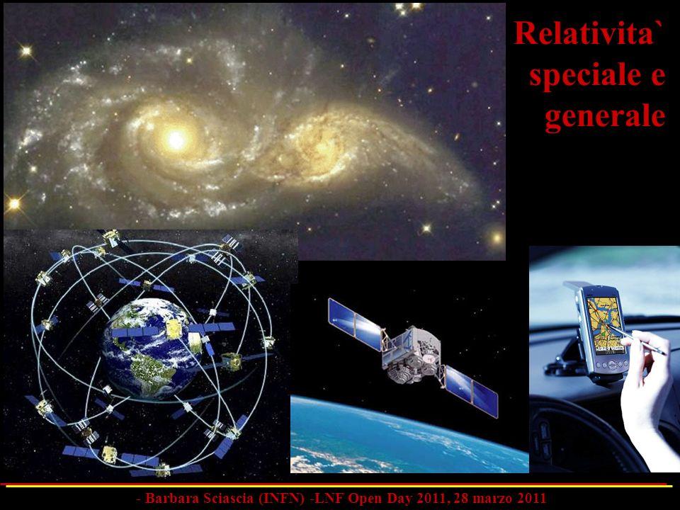 Relativita` speciale e generale - Barbara Sciascia (INFN) -LNF Open Day 2011, 28 marzo 2011