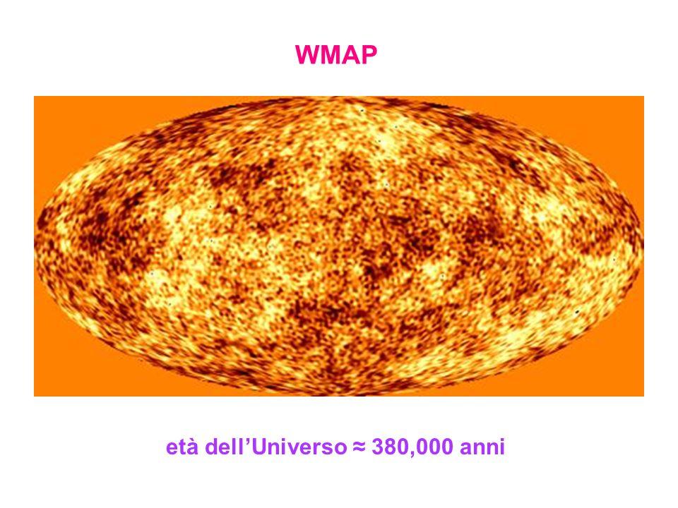 WMAP età dellUniverso 380,000 anni