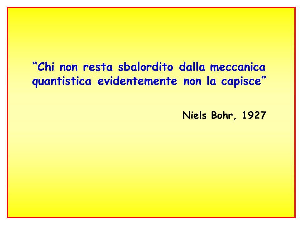 Chi non resta sbalordito dalla meccanica quantistica evidentemente non la capisce Niels Bohr, 1927